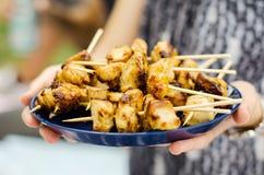 Οβελίδια κοτόπουλου Στοκ Εικόνες