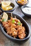 Οβελίδια κοτόπουλου Tandoori στοκ φωτογραφίες