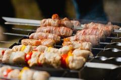 Οβελίδια κρέατος Στοκ εικόνες με δικαίωμα ελεύθερης χρήσης