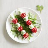 Οβελίδια των αυγών ορτυκιών Στοκ Εικόνες