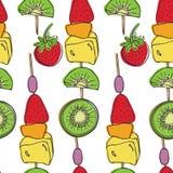 Οβελίδια φρούτων Στοκ φωτογραφία με δικαίωμα ελεύθερης χρήσης