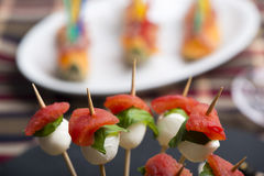 Οβελίδιο μοτσαρελών ντοματών και άλλα τρόφιμα δάχτυλων freh Στοκ φωτογραφία με δικαίωμα ελεύθερης χρήσης