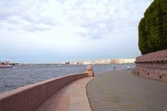 Οβελός του νησιού Vasilyevsky Στοκ Φωτογραφία