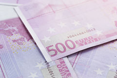 λογαριασμοί 500 ευρώ ως υπόβαθρο Στοκ Εικόνα