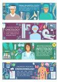 Ογκολογία Traumatology, infectiology, ενδοκρινολογία ελεύθερη απεικόνιση δικαιώματος