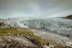 Ογκώδες μέτωπο του παγετώνα του Russell, Kangerlussuaq, Γροιλανδία στοκ εικόνα