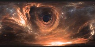 ογκώδες πανόραμα μαύρων τρυπών 360 βαθμού, equirectangular προβολή, χάρτης περιβάλλοντος Σφαιρικό πανόραμα HDRI ελεύθερη απεικόνιση δικαιώματος