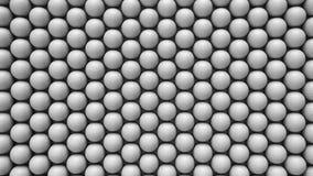 Ογκώδης από επάνω προς τα κάτω σειρά άσπρων σφαιρών γκολφ διανυσματική απεικόνιση