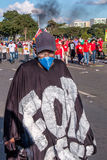 Ογκώδης διαμαρτυρία στη Μπραζίλια, Μπραζίλια Στοκ Εικόνες
