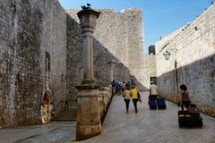 Ογκώδης τουρισμός Dubrovnik Στοκ Εικόνα