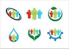 λογότυπα ομάδων Στοκ Εικόνες