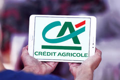 λογότυπο τραπεζών της Credit Agricole στοκ φωτογραφίες με δικαίωμα ελεύθερης χρήσης