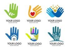λογότυπο χεριών Στοκ Εικόνες