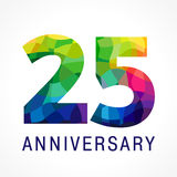 λογότυπο χρώματος 25 επετείου διανυσματική απεικόνιση