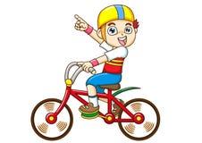 οδήγηση αγοριών ποδηλάτω&n Στοκ φωτογραφίες με δικαίωμα ελεύθερης χρήσης