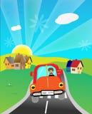 οδήγηση αυτοκινήτων διανυσματική απεικόνιση