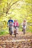 Οδήγηση στα ποδήλατα Στοκ Εικόνες