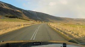 Οδήγηση στην Ισλανδία απόθεμα βίντεο