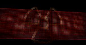Οδηγήσεις ακτινοβολίας ακτίνας X προσοχής διανυσματική απεικόνιση