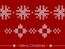 Οδηγία διαγώνιος-ραψίματος με τις διακοσμήσεις για τα Χριστούγεννα απεικόνιση αποθεμάτων