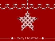 Οδηγία διαγώνιος-ραψίματος με το αστέρι για τα Χριστούγεννα ελεύθερη απεικόνιση δικαιώματος