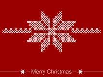 Οδηγία διαγώνιος-ραψίματος με το λουλούδι για τα Χριστούγεννα ελεύθερη απεικόνιση δικαιώματος