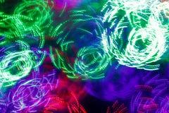 Οδηγημένα χρώμα φω'τα και bokeh Στοκ Εικόνα
