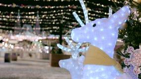 Οδηγημένη Χριστούγεννα διακόσμηση ελαφιών απόθεμα βίντεο
