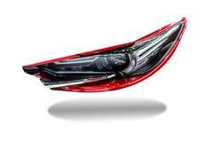 Οδηγημένο αυτοκίνητο προβολέων απομονωμένος για τους πελάτες Χρησιμοποίηση της ταπετσαρίας ή στοκ εικόνα