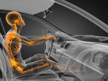 οδηγός έννοιας αυτοκινήτων διαφανής Στοκ Εικόνες