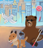 οδηγός σκυλιών καστόρων απεικόνιση αποθεμάτων
