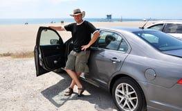 Οδηγός στην παραλία στοκ εικόνες