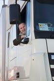 Οδηγός φορτηγού και το truck του. Στοκ Φωτογραφίες