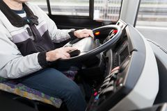 Οδηγός φορτηγού trucker Στοκ φωτογραφία με δικαίωμα ελεύθερης χρήσης