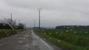 οδηγώντας βροχή απόθεμα βίντεο