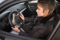 οδηγώντας γυναίκα Στοκ φωτογραφία με δικαίωμα ελεύθερης χρήσης