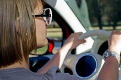 οδηγώντας γυναίκα Στοκ Εικόνες
