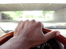 οδηγώντας οδική όψη 3 πόλεων Στοκ Εικόνα