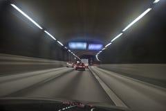 οδηγώντας σήραγγα Στοκ εικόνες με δικαίωμα ελεύθερης χρήσης