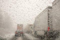 οδηγώντας χειμώνας Στοκ φωτογραφία με δικαίωμα ελεύθερης χρήσης