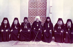ΟΔΗΣΣΟΣ, ΟΥΚΡΑΝΙΑ, circa 1950 - εκλεκτής ποιότητας φωτογραφίες των υψηλών ιερέων Στοκ εικόνα με δικαίωμα ελεύθερης χρήσης