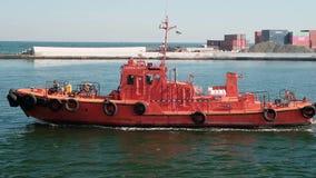 Οδησσός, Ουκρανία, στις 20 Οκτωβρίου 2018 Σκάφος πειραματικό Κόκκινες κινήσεις βαρκών στη Μαύρη Θάλασσα φιλμ μικρού μήκους