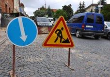 Οδικά σημάδια στην οδό Στοκ Φωτογραφία