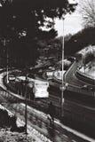 Οδικές γραμμές το χειμώνα Στοκ Φωτογραφίες