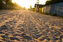 οδική άμμος Στοκ Φωτογραφία