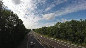 Οδική αυτόματη μεταφορά αυτοκινήτων απόθεμα βίντεο