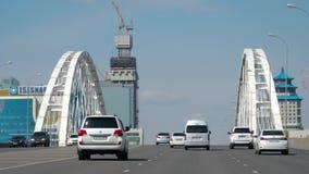 Οδική γέφυρα σε Astana απόθεμα βίντεο