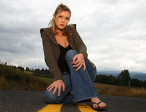 οδική γυναίκα στοκ φωτογραφία με δικαίωμα ελεύθερης χρήσης