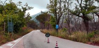 Οδική επισκευή βουνών στοκ εικόνες