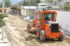 Οδική επισκευή, εργασίες μεταφορών, τρακτέρ, βαριά μηχανήματα στοκ φωτογραφίες με δικαίωμα ελεύθερης χρήσης